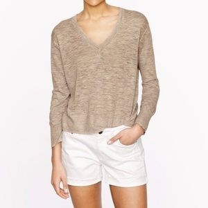 J.Crew marled linen blend sheer sweater